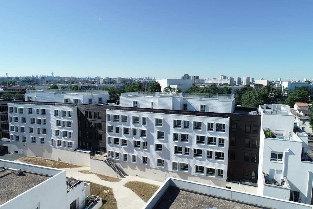 bio'bric façades - bardage émaillé - La Courneuve