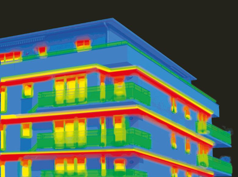 Simulation de thermographie des bâtiments.