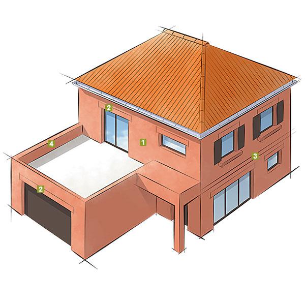 schema accessoires maison individuelle terre cuite